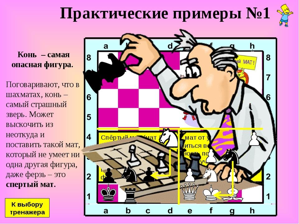 Конь – самая опасная фигура. Поговаривают, что в шахматах, конь – самый стра...