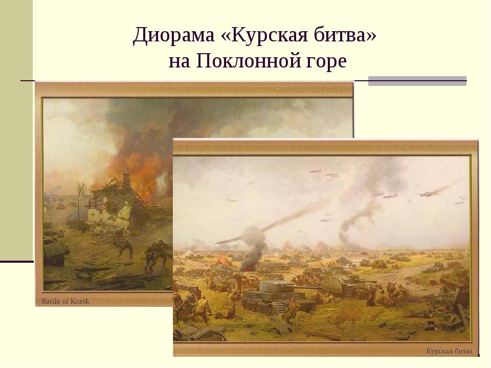 Диорама «Курская битва» на Поклонной горе