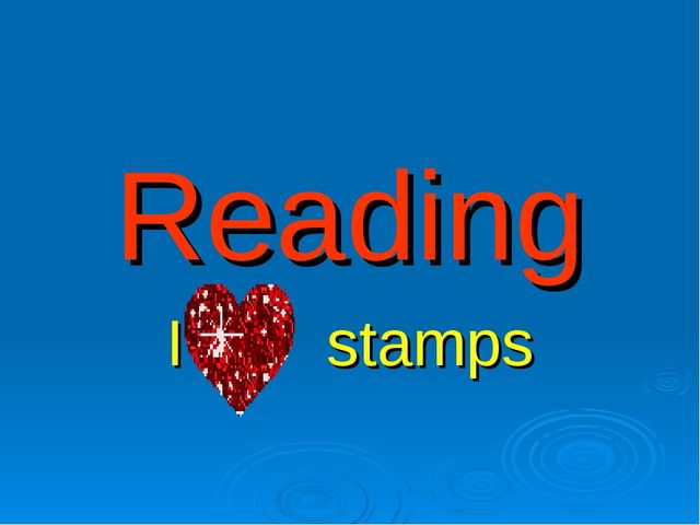 Reading I stamps