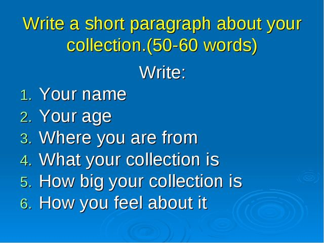 a short paragraph A descriptive paragraph can captivate a reader and enliven an essay learn how to write a good descriptive paragraph with these examples and tips.