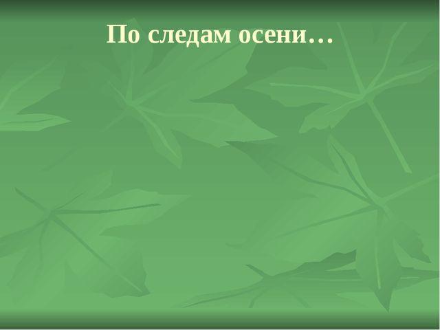 По следам осени…