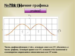 №731 (1). Построение графика y=sin∣x∣ У Х y = sinx Часть графика функции y=si