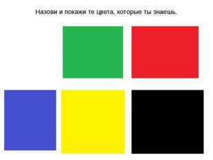Назови и покажи те цвета, которые ты знаешь.