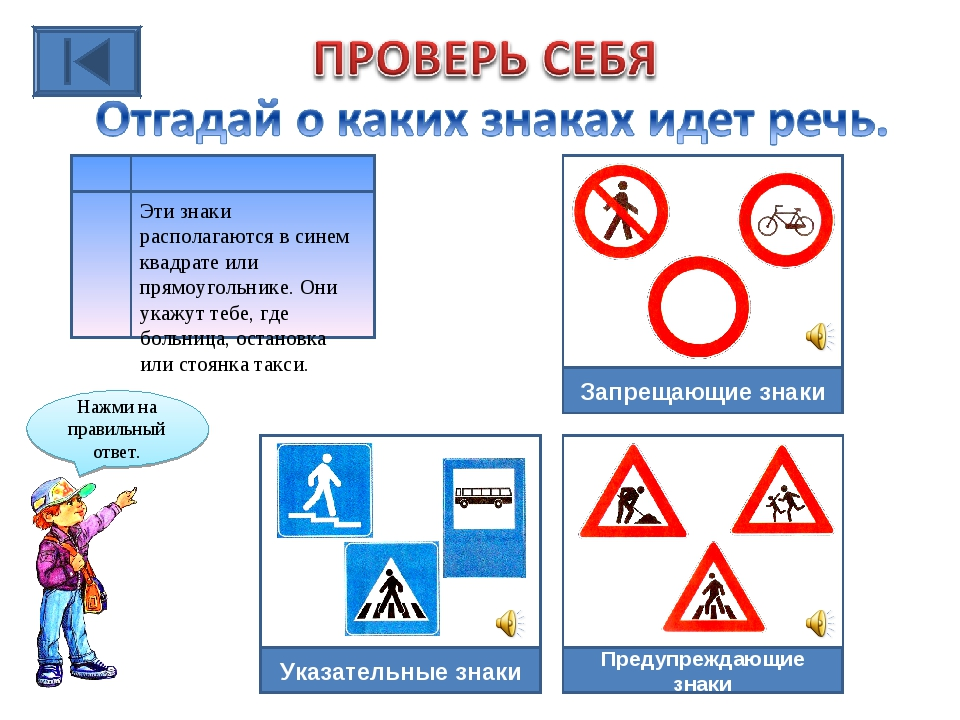Эти знаки располагаются в синем квадрате или прямоугольнике. Они укажут тебе,...