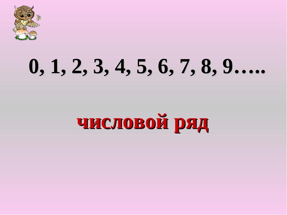 0, 1, 2, 3, 4, 5, 6, 7, 8, 9….. числовой ряд