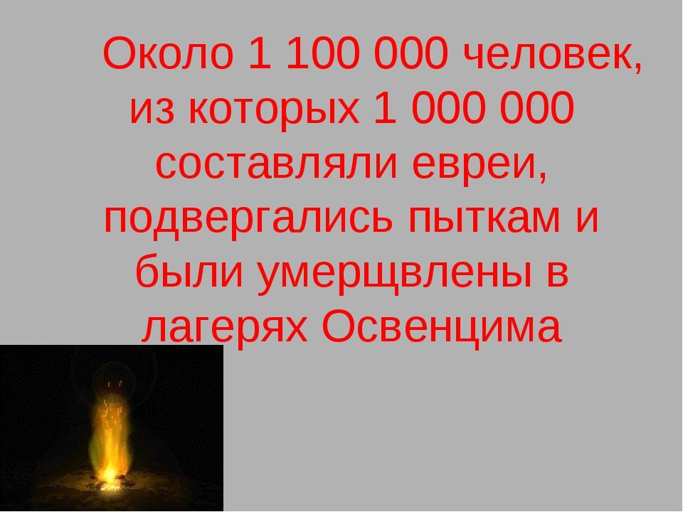 Около 1 100 000 человек, из которых 1 000 000 составляли евреи, подвергалис...