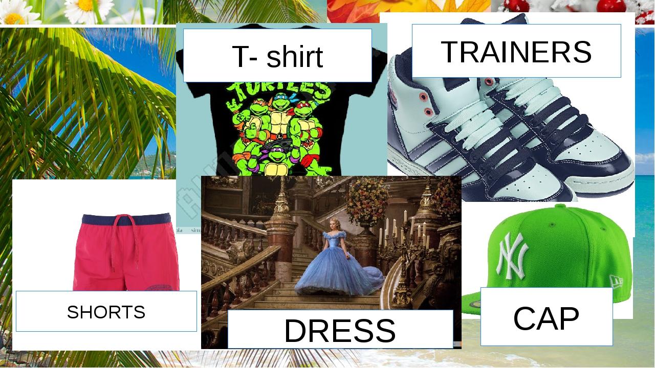 T- shirt TRAINERS SHORTS DRESS CAP