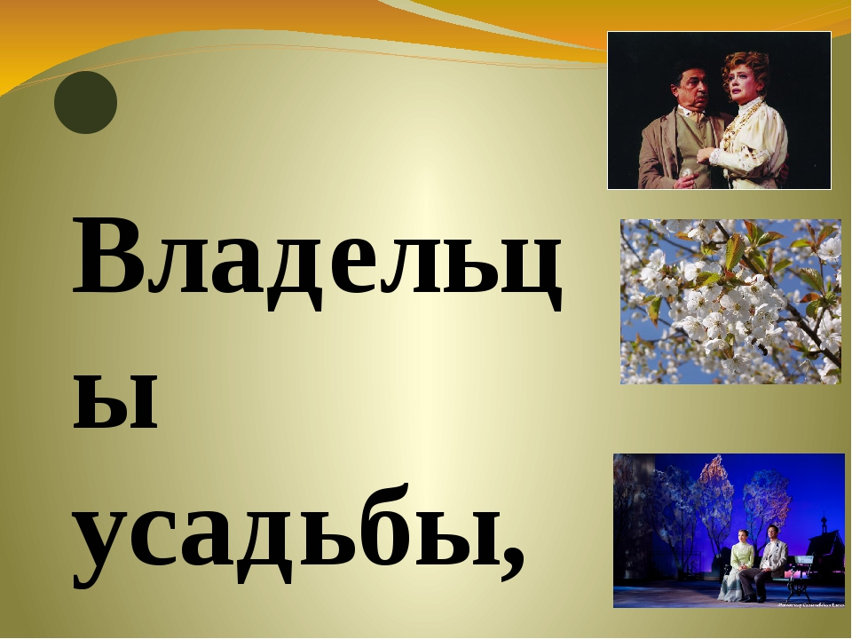 Владельцы усадьбы, дворяне Раневская и Гаев,- милые, добрые люди. Они не мог...