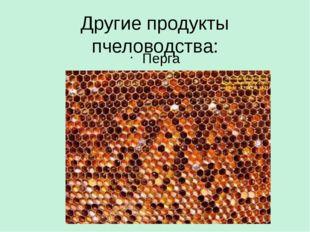 Другие продукты пчеловодства: Перга