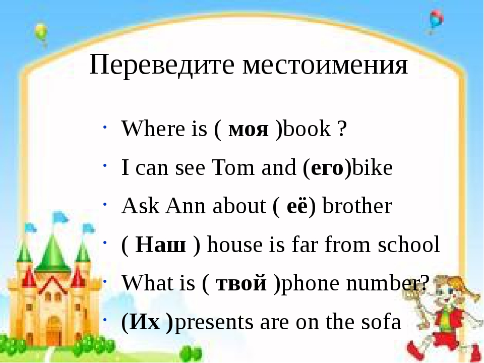 Местоимения: I, you, we, they