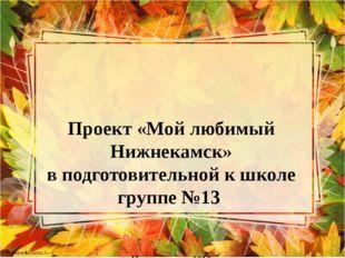 Проект «Мой любимый Нижнекамск» в подготовительной к школе группе №13    г.Ни