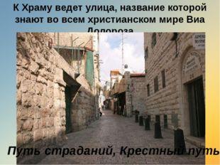 К Храму ведет улица, название которой знают во всем христианском мире Виа Дол