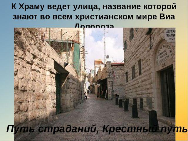 К Храму ведет улица, название которой знают во всем христианском мире Виа Дол...