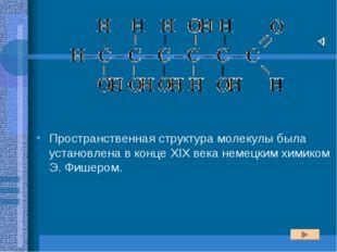 Пространственная структура молекулы была установлена в конце XIX века немецки