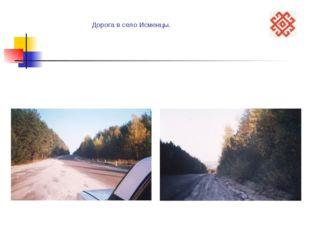 Дорога в село Исменцы.