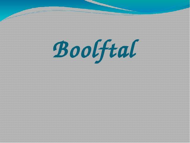Boolftal