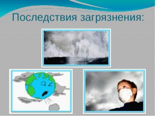 Последствия загрязнения: