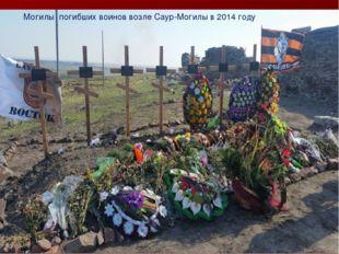 Могилы погибших воинов возле Саур-Могилы в 2014 году