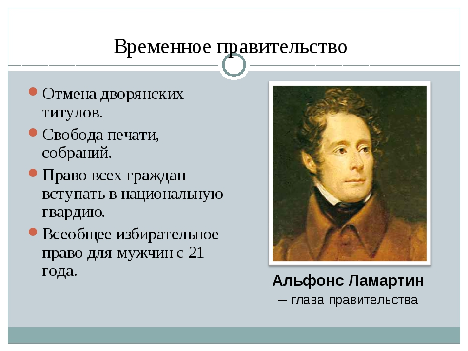 Временное правительство Отмена дворянских титулов. Свобода печати, собраний....