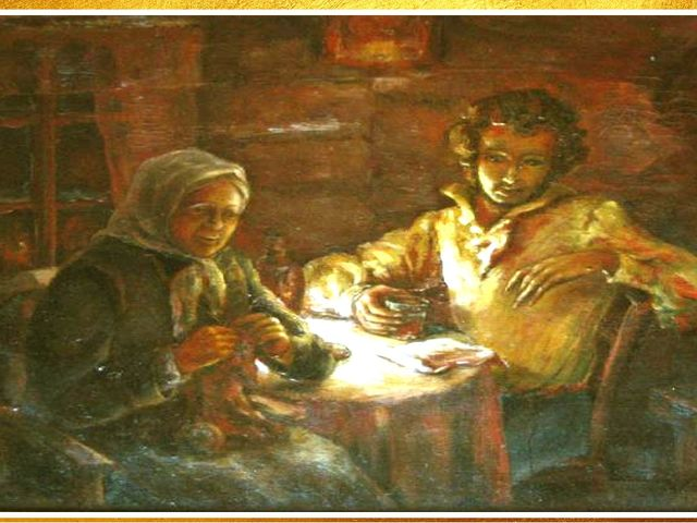 НЯНЯ ПУШКИНА АРИНА РОДИОНОВНА Арина Родионовна у маленького Саши она была нян...