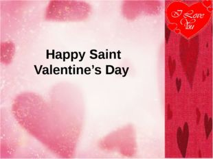 Happy Saint Valentine's Day
