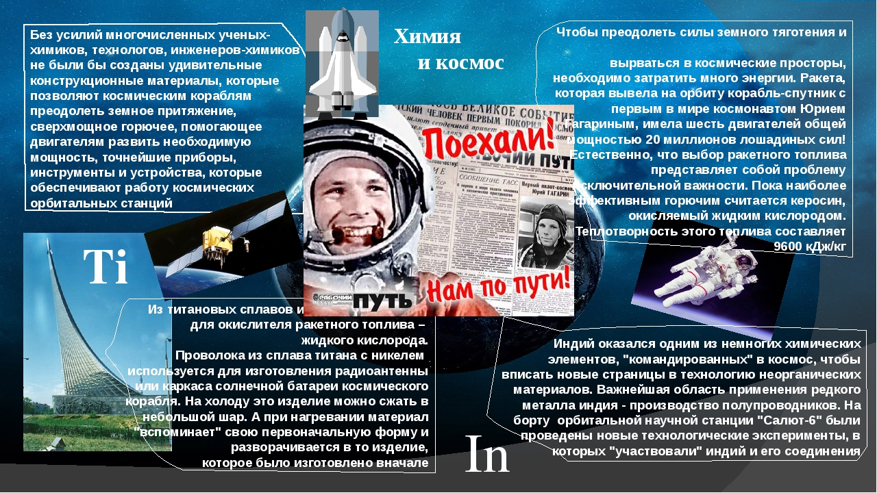 Ti Химия и космос Без усилий многочисленных ученых-химиков, технологов, инжен...