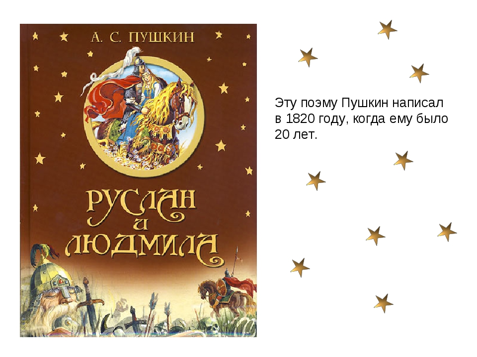 Эту поэму Пушкин написал в 1820 году, когда ему было 20 лет.