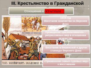 III. Крестьянство в Гражданской войне 1919 год Восстание казачества на Верхне
