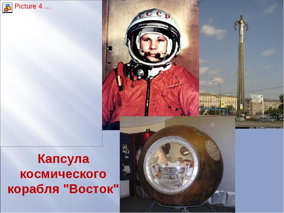"""Капсула космического корабля """"Восток"""""""