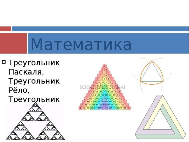 Треугольник Паскаля, Треугольник Рёло, Треугольник Серпинского, Треугольник П...