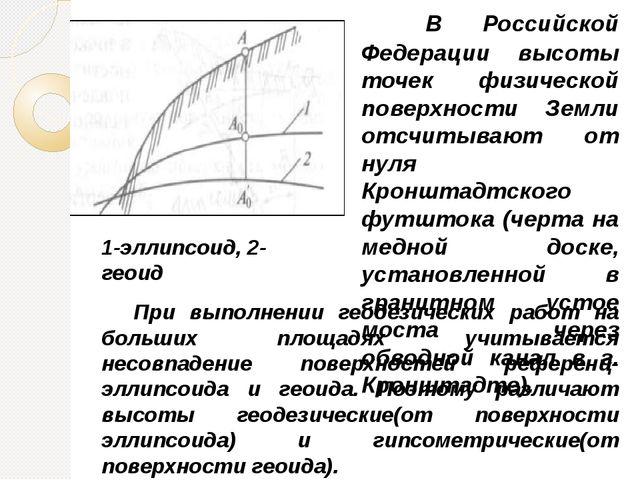 В Российской Федерации высоты точек физической поверхности Земли отсчитываю...