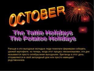 Pаньше в эти выходные молодые люди помогали фермерам собирать урожай картофел