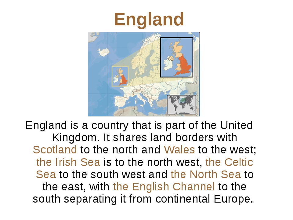 England England is a country that is part of the United Kingdom. It shares la...