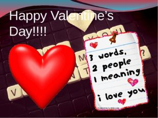 Happy Valentine's Day!!!!