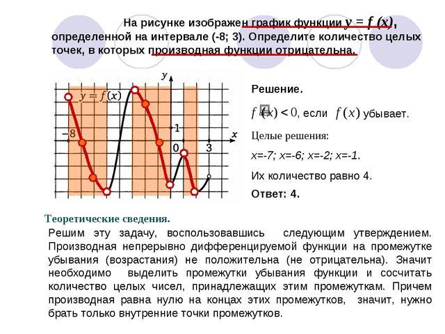 На рисунке изображен график функции y = f (x), определенной на интервале (-8...