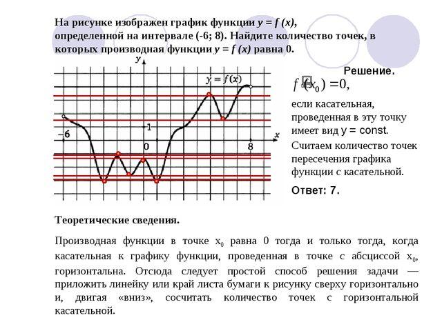 Производная функции в точке х0 равна 0 тогда и только тогда, когда касательна...