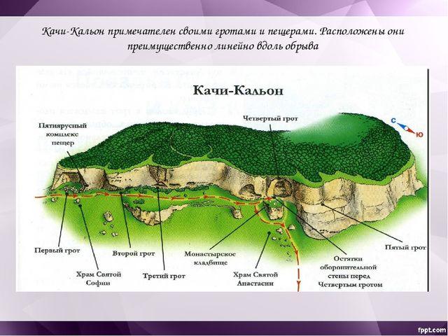 В первом и во втором гротах на поверхности скалы можно увидеть много пазов, п...
