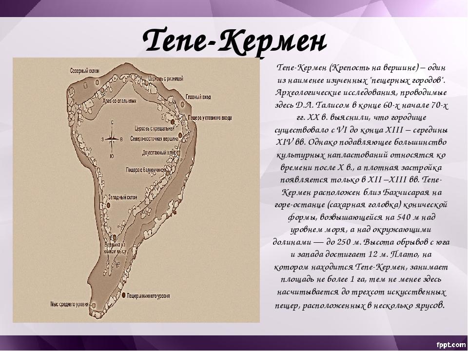 Склоны Тепе-Кермена с западной и северо-западной стороны поросли лесом, остал...