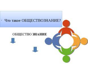 Что такое ОБЩЕСТВОЗНАНИЕ? ОБЩЕСТВО ЗНАНИЕ Актуализация знаний