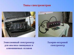 Типы спектрометров Эмиссионный спектрометр для анализа свинцовых и алюминиевы