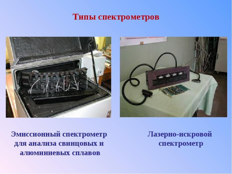 Типы спектрометров Эмиссионный спектрометр для анализа свинцовых и алюминиевы...