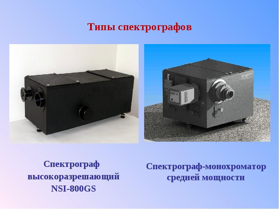 Типы спектрографов Спектрограф высокоразрешающий NSI-800GS Спектрограф-монох...