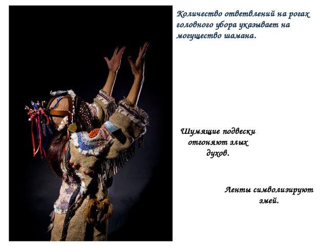 Количество ответвлений на рогах головного убора указывает на могущество шаман...