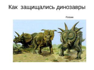 Как защищались динозавры Рогами Рогами