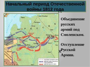 Ход военных действий Начальный период Отечественной войны 1812 года Начальный