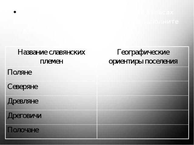 Используя текст летописи и карты в атласах «Киевская Русь в 9 – начале 12 вв...