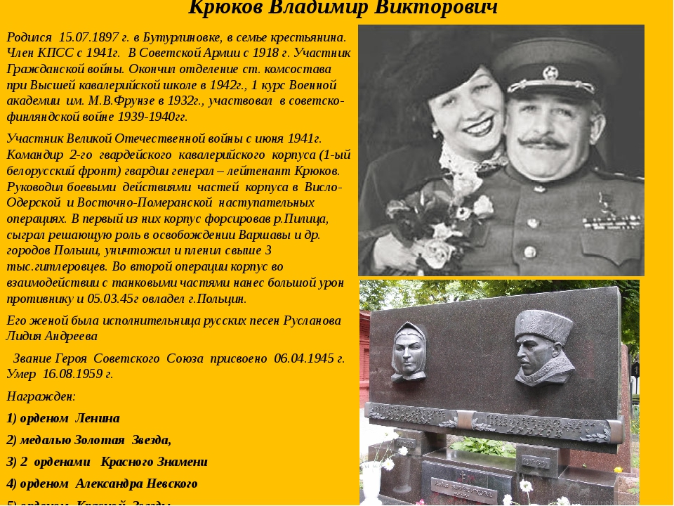 Крюков Владимир Викторович Родился 15.07.1897 г. в Бутурлиновке, в семье крес...