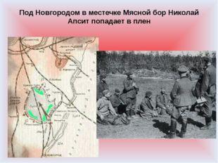 Под Новгородом в местечке Мясной бор Николай Апсит попадает в плен