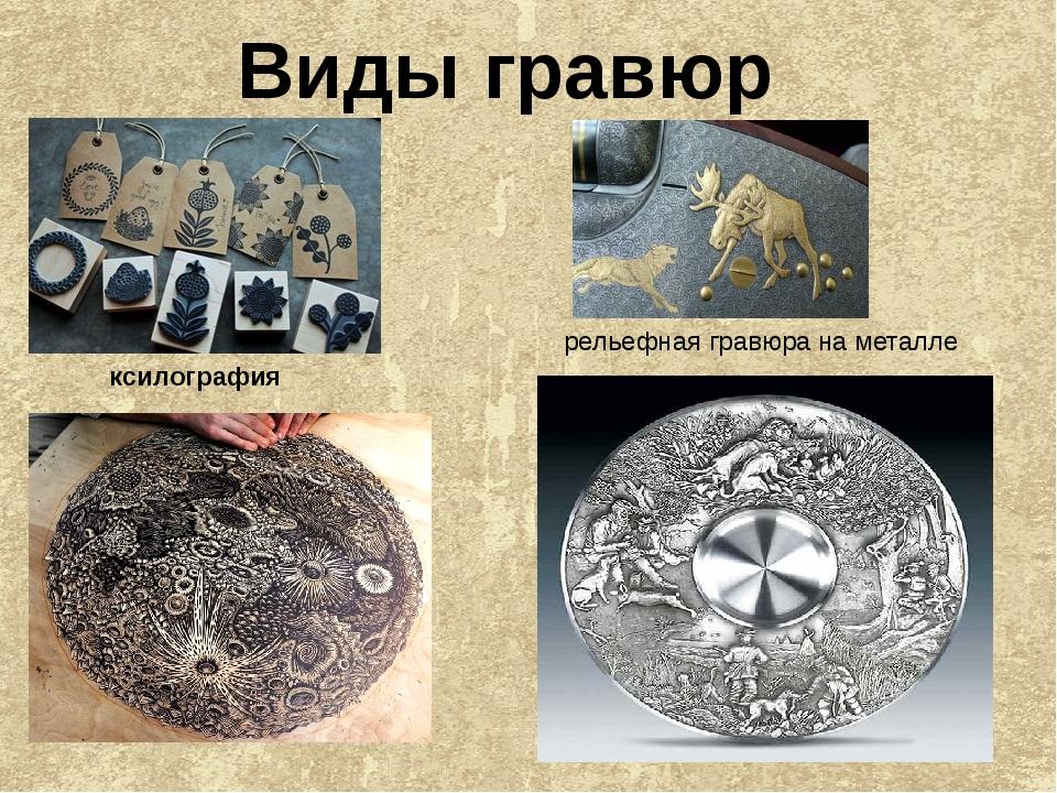 Виды гравюр ксилография рельефная гравюра на металле