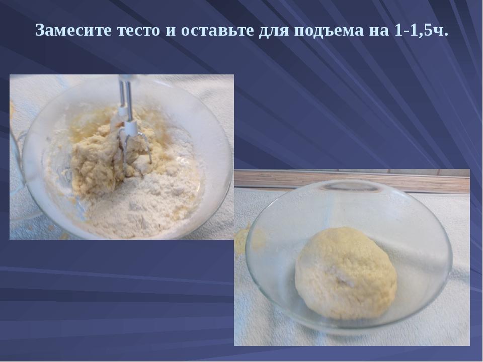 Замесите тесто и оставьте для подъема на 1-1,5ч.